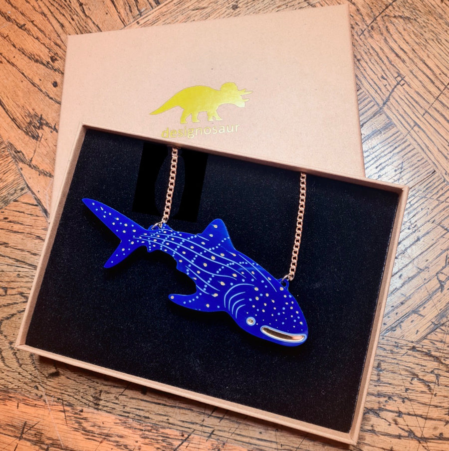 Whale Shark Necklace by Designosaur