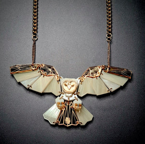Owl Necklace (Luxor) by Sstutter