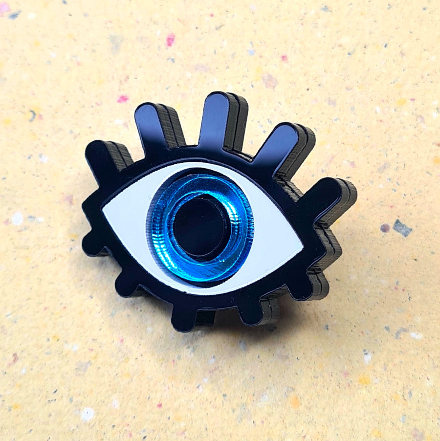 Blue Eye Brooch by Monolama
