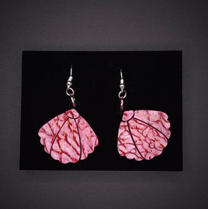 Small Pink Shell Earrings by Lou Taylor