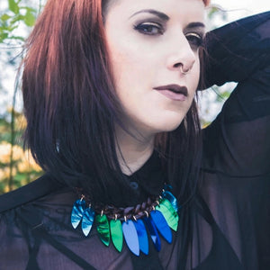 Beetle Wings Necklace by Sugar and Vice