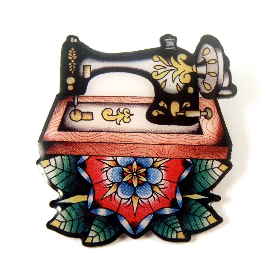 Sew Lovely Sewing Machine Brooch by Jubly Umph