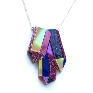 Textured Amethyst Necklace by Esoteric London