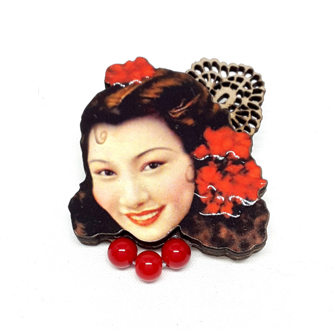 Senorita Sherry Blossom Brooch by Lady A  Broad