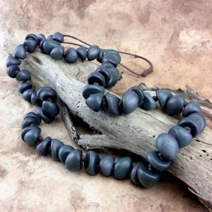 Slate Freya Long Wooden Necklace by Cool Coconut