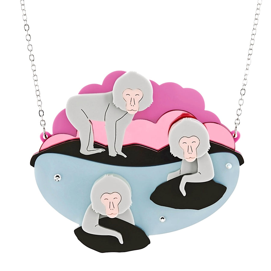 Snow Monkey Rockpool Necklace by Little Moose