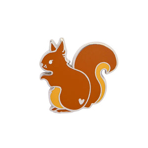 Scrupulous Squirrel Enamel Pin by Erstwilder