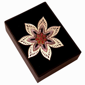Star Flower Brooch by Rosa Pietsch
