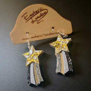 Star Dangle Rainbow Earrings by Esoteric London