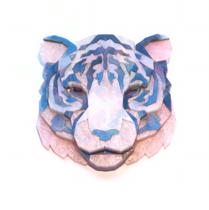 Tiger Head Brooch (Moon Lakes) by Sstutter