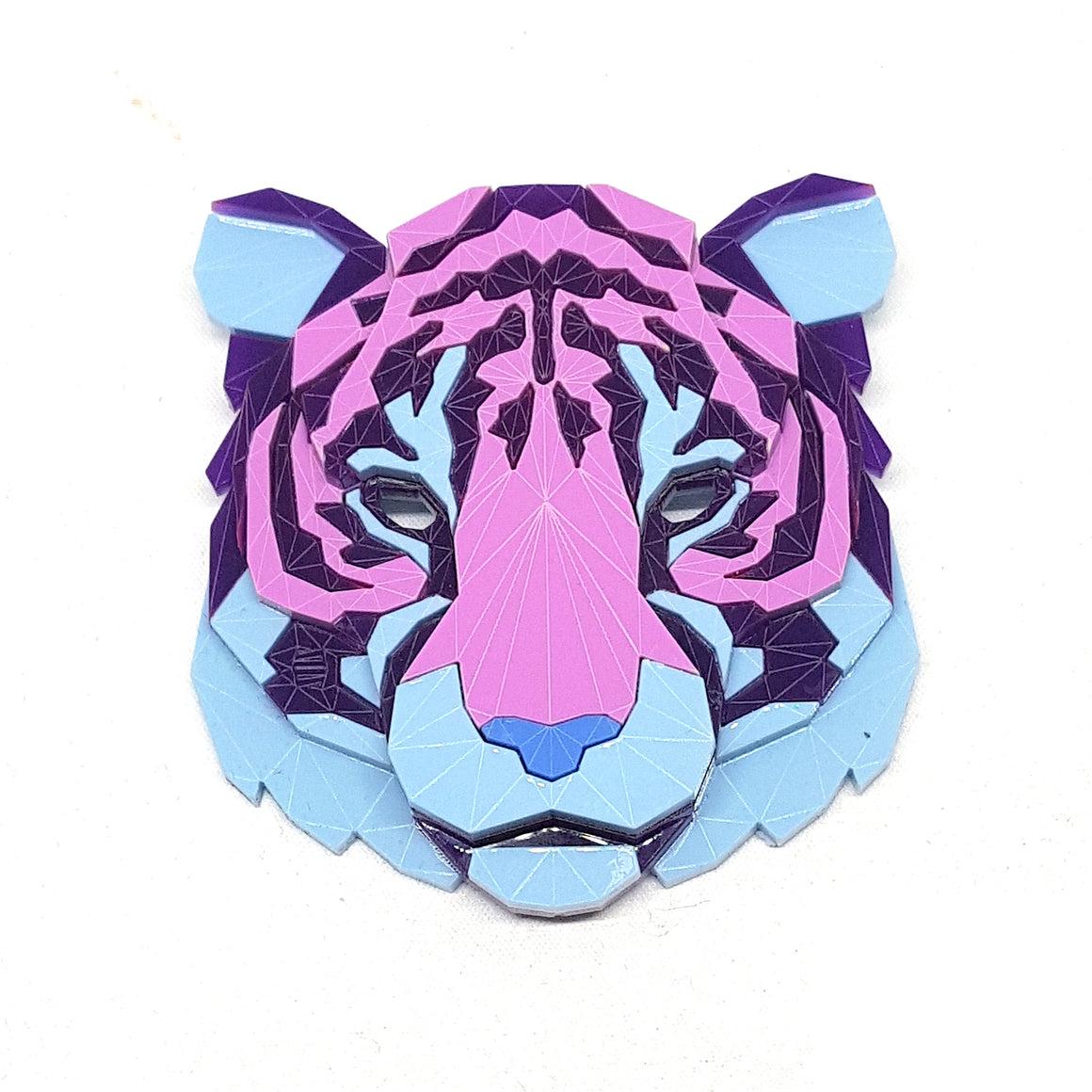 Tiger Head Brooch (Flowers) by Sstutter