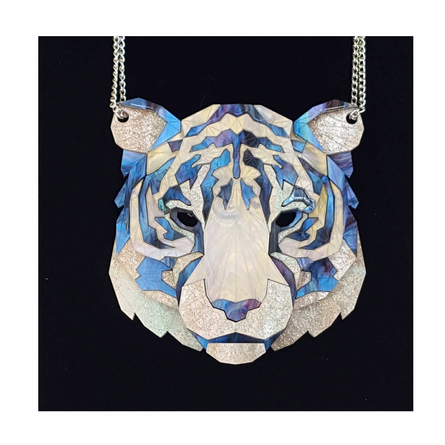 Tiger Head Necklace (Moon Lakes) by Sstutter