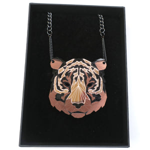 Tiger Head Necklace (Rose Lux Exclusive) by Sstutter