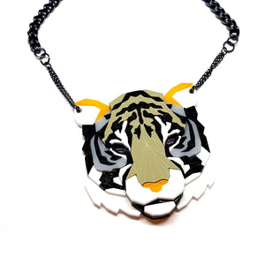 Tiger Head Necklace (Sneakers) by Sstutter