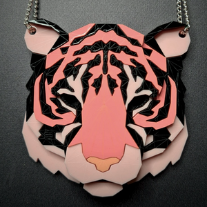 Tiger Head Necklace (Sensation) by Sstutter