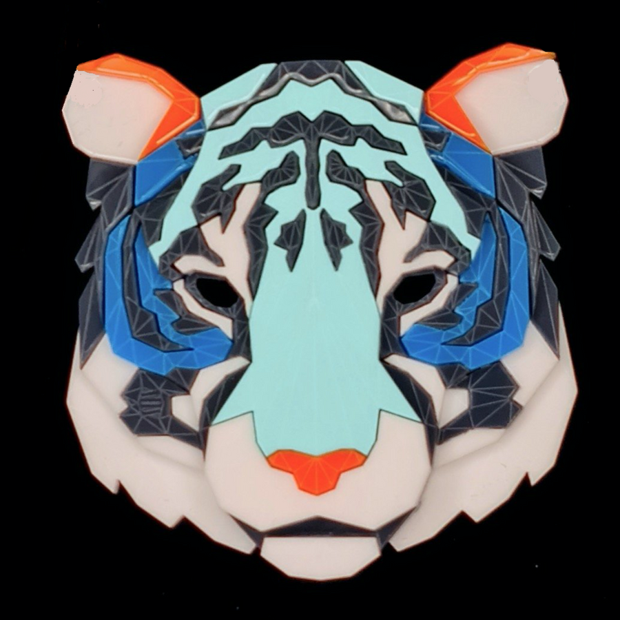 Tiger Head Brooch (Sneakers 2) by Sstutter