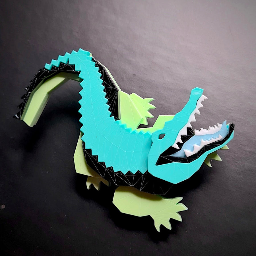Crocodile Brooch (Toxic) by Sstutter