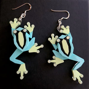 Tree Frog Earrings (Toxic) by Sstutter