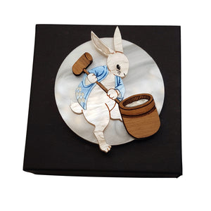 Tsuki no Usagi Moon Rabbit Brooch by Gory Dorky