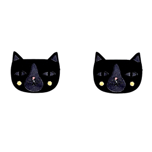 Tuxedo Cat Studs by Little Moose