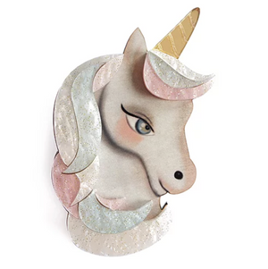 Unicorn Brooch by LaliBlue