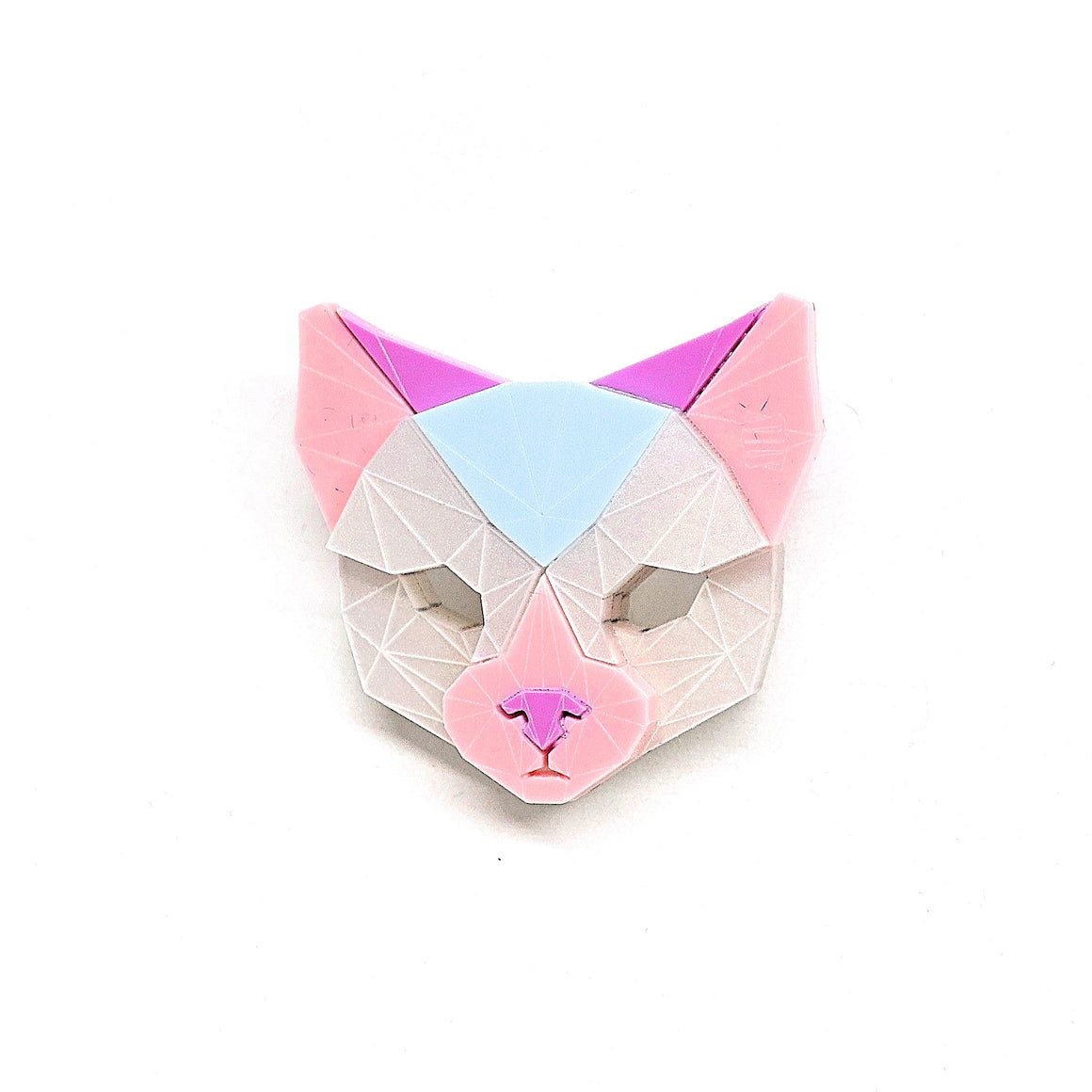 Cat Head Brooch (Valkyrie) by Sstutter
