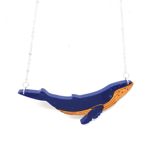 Humpback Whale Necklace by Designosaur