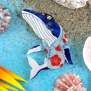 Whale of a Time Brooch by Gory Dorky