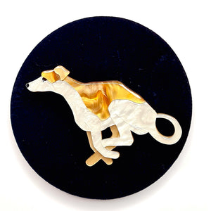 Weightless Whippet Brooch by Erstwilder