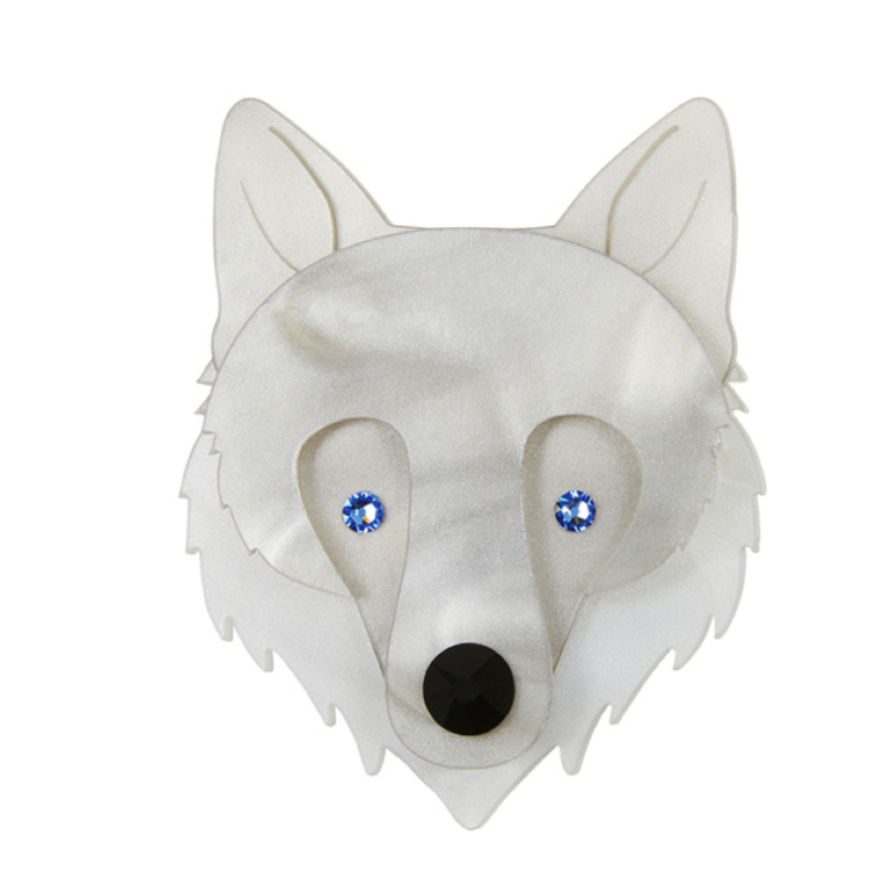 Wolf Face Brooch by Little Moose