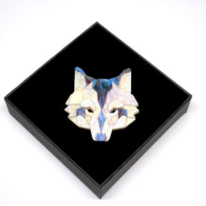Wolf Head Brooch (Moon Lakes) by Sstutter