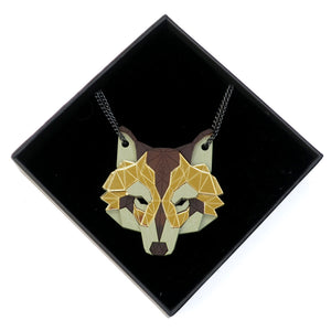 Wolf Head Necklace (Safari) by Sstutter