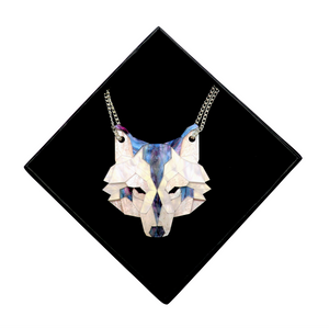 Wolf Head Necklace (Moon Lakes) by Sstutter