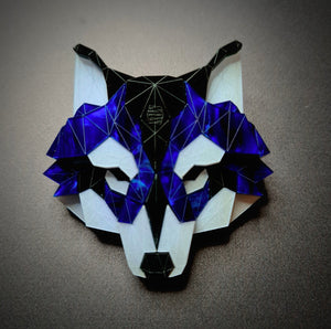 Wolf Head Brooch (Deep Blue by Sstutter