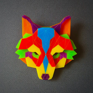Wolf Head Brooch   'I Believe in Me' by Sstutter