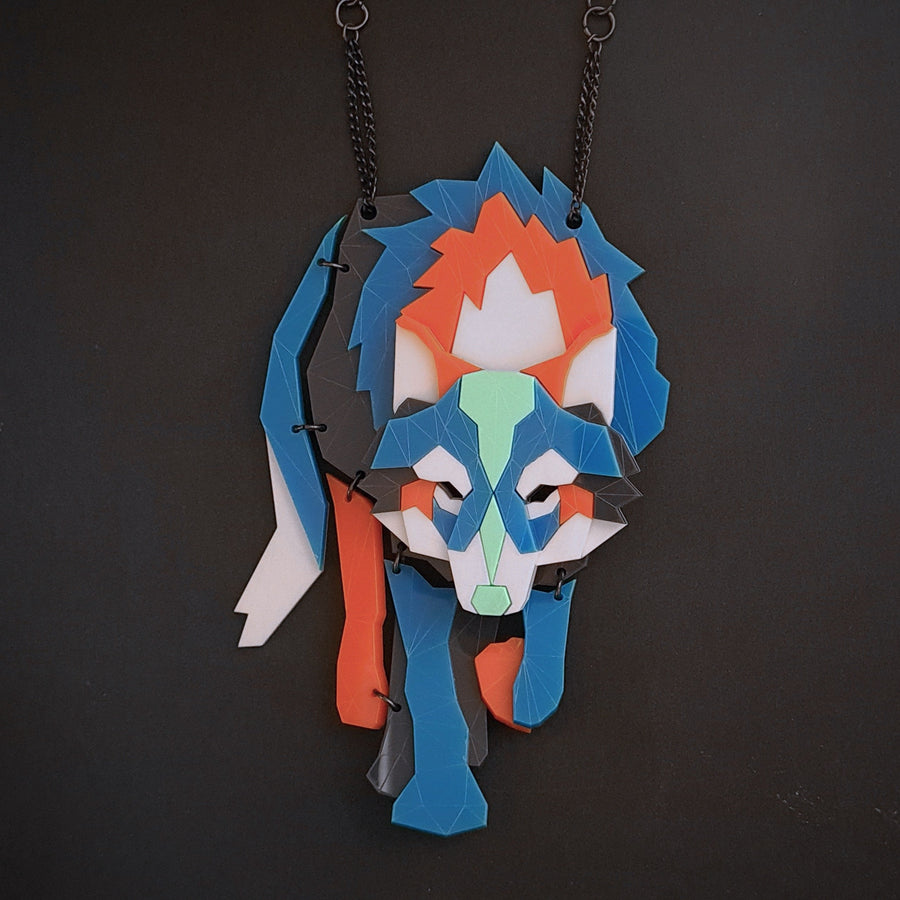 Wolf (Sneakers 11) Necklace by Sstutter