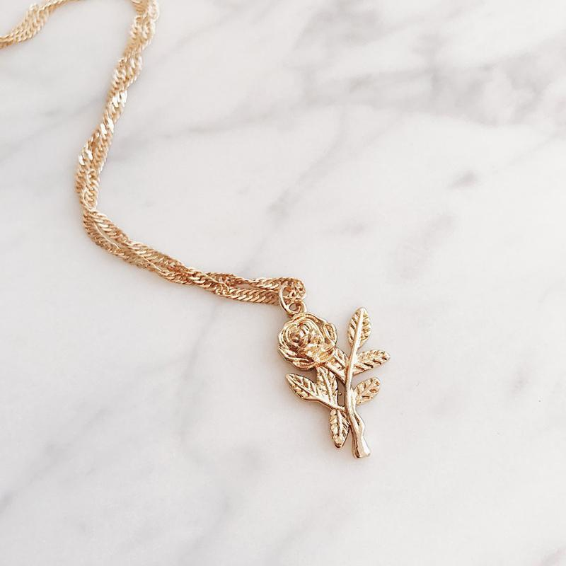 Last Rose Gold Necklace - LUX NOIRE