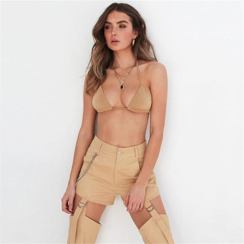 Buckle Off Khaki Bottoms - LUX NOIRE