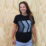 Black Chevron Tee
