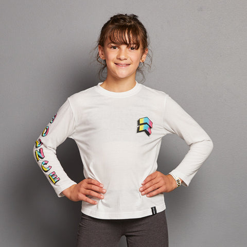 Kids Chevron Fade Long Sleeve T-Shirt