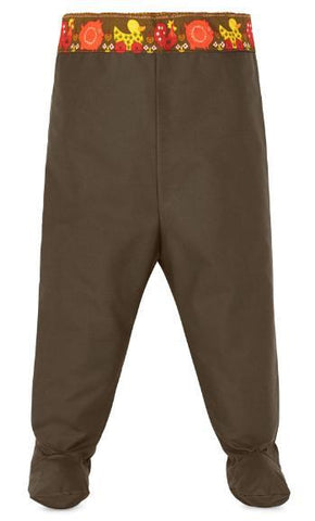 mudbubs waxed cotton overtrousers for crawling babies keep children drier, warmer and cleaner while they play outside