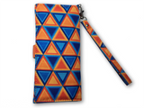 Blue and Orange Nested Triangles Printed Women's Wallet