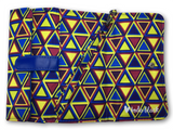 Blue and Yellow Nested Triangles Printed Women's Wallet