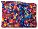Red Multi-Color Geometric Printed Women's Wallet