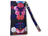 Glitter and Space and Hexagons Printed Women's Wallet