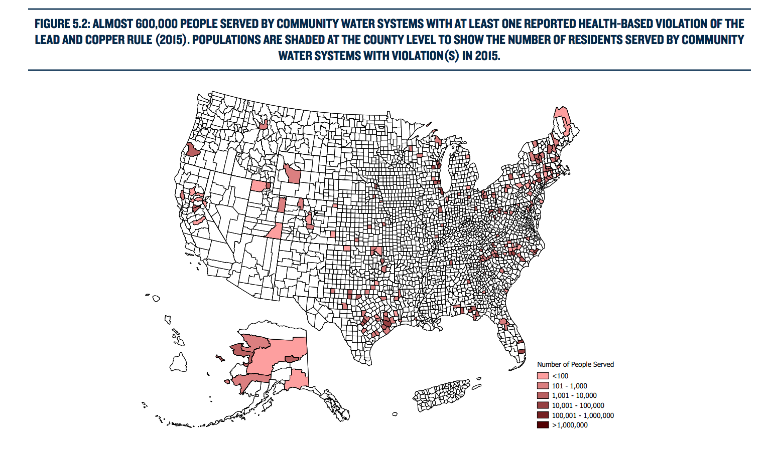 Lead & Copper Health Violations in USA