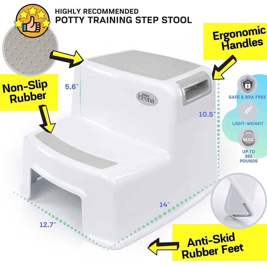 Toddler Dual Height Step Stool - Greige