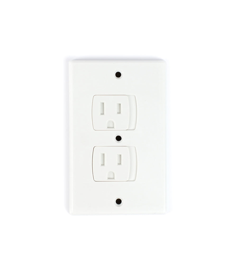 Self-Closing Electrical Outlet Covers - 4 Pack White - Jessa Leona Baby