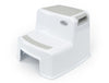 Toddler Dual Height Step Stool - Greige - Jessa Leona Baby
