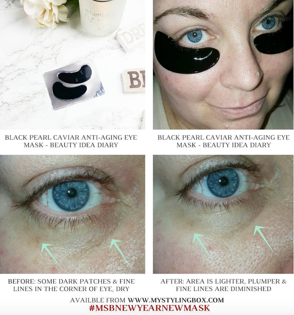 Beauty Idea Diary Black Pearl Caviar Anti-Aging Eye Mask | My Styling Box